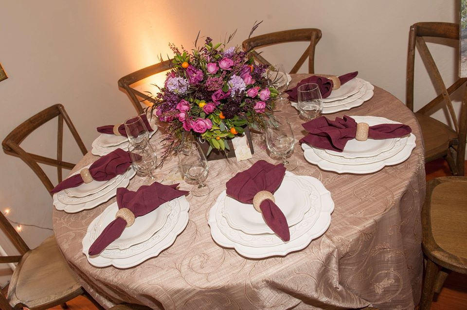 Gorgeous table display from Pleasanton Rentals